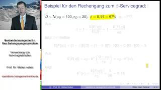 "Video 6.4 zum ""Operations Management Tutorial"": Servicegrade im Bestandsmanagement"