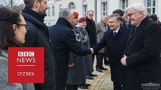 Видео: Мирзиёев Германия президенти билан учрашди- BBC Uzbek