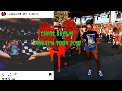 VLOG | Chris Brown re-posted me | HBOAFM Tour 2018