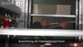 Niederspannungs-Schaltanlagen - Ausrichtung der Kabelabfangschiene