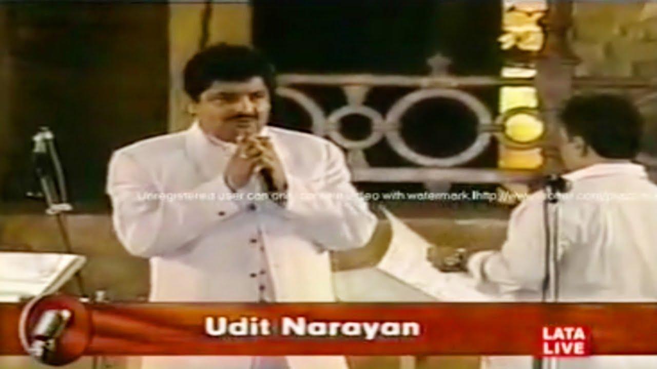 Dil Ne Yeh Kaha Hain Dil Se | Udit Narayan Live Performance | Lata Mangeshkar Concert 2001