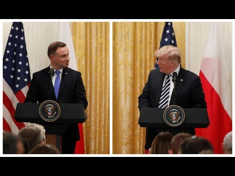 Poland President Duda SHOCKS President Donald Trump at Press Conference at the White House