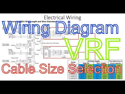 Panasonic Fsv Vrf System Wiring Connection Diagram And Wiring Selection Youtube