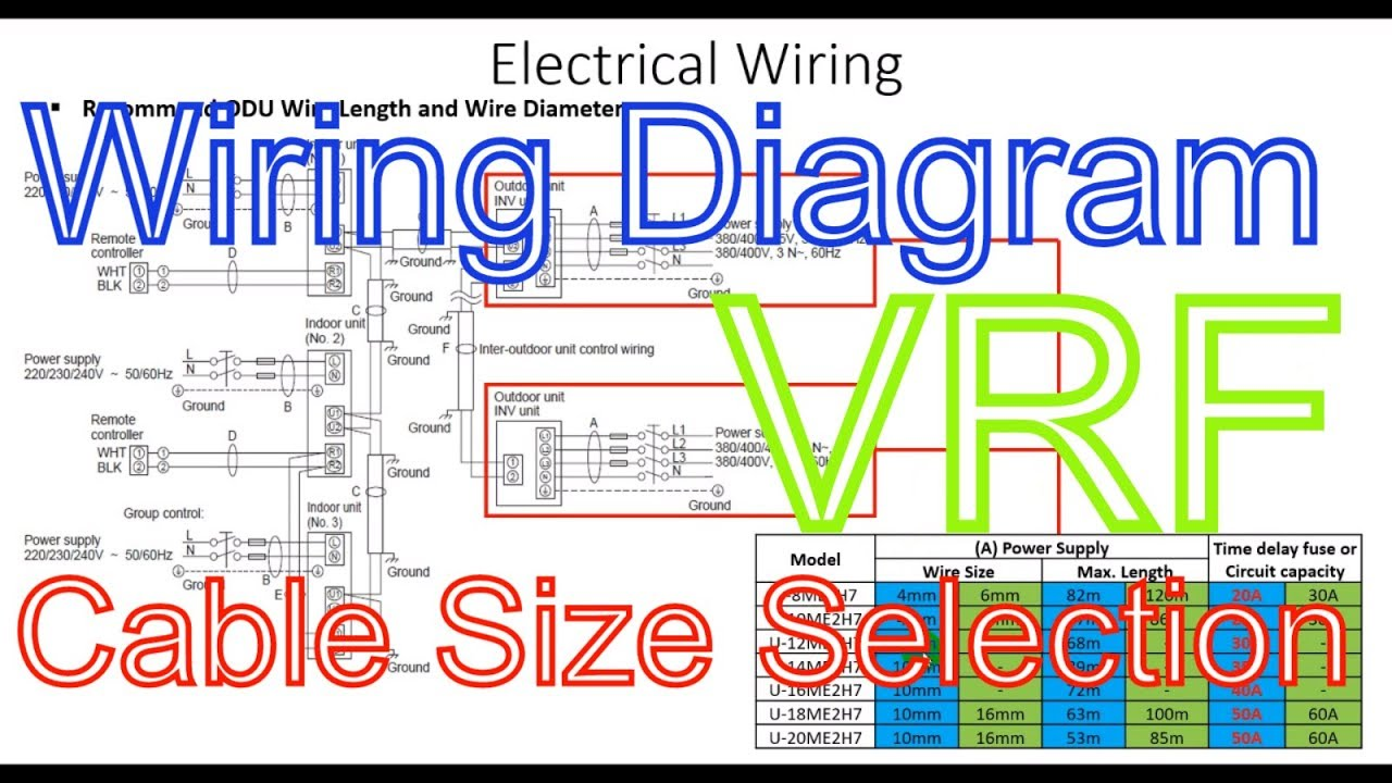medium resolution of panasonic fsv vrf system wiring connection diagram and wiring selection