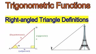 Trigonometric functions | Right-angled Triangle Definitions