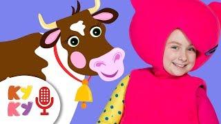 КАРАОКЕ  КРЯ КРЯ Кукутики - развивающая детская песенка про животных для детей, малышей