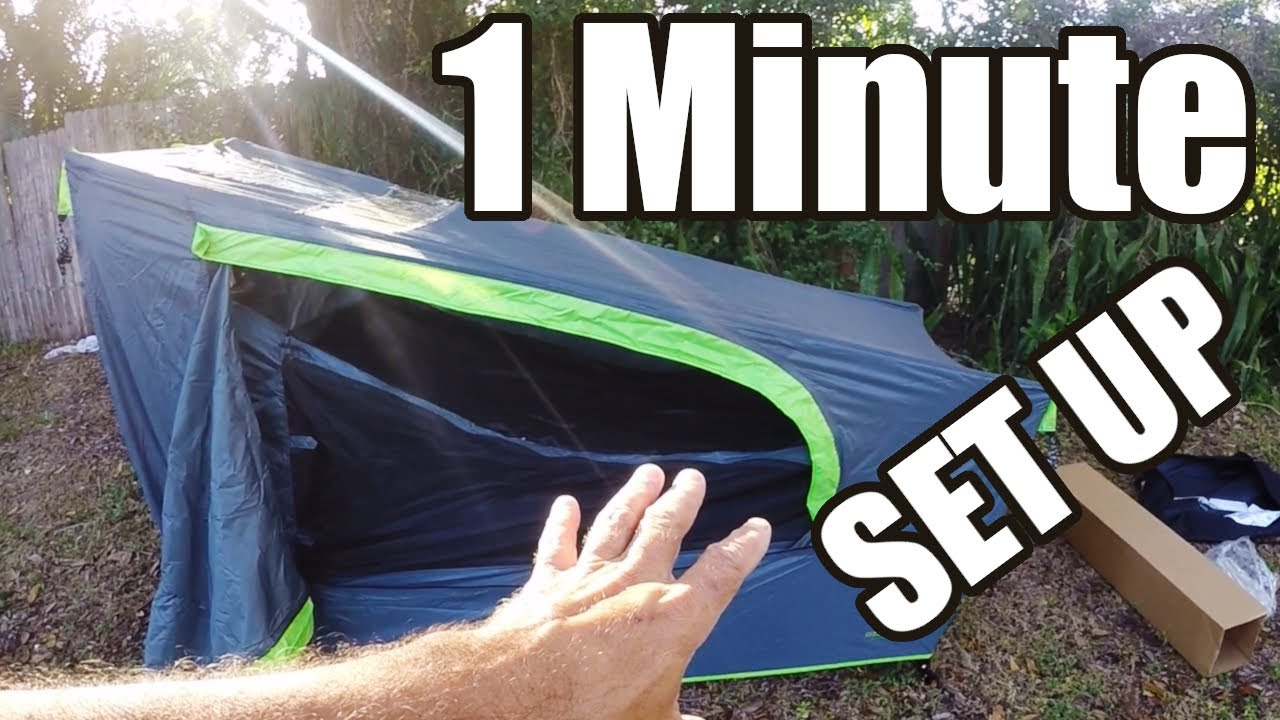 Ozark Trail One Person Cot Tent Set Up Assembly And