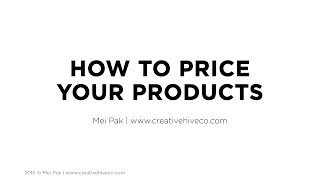 How To Price Your Handmade Products - The Pricing Formula