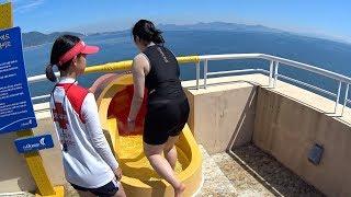 Orange Tube Water Slide at The Ocean Waterpark