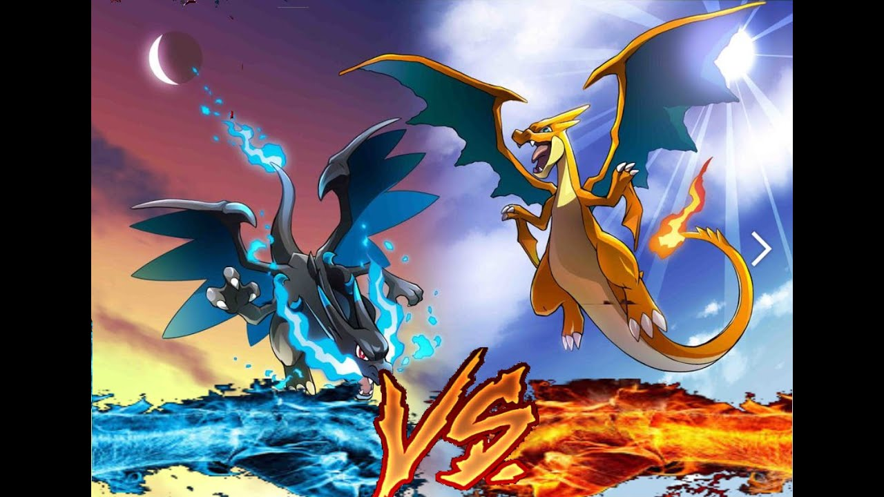 Pok versus 1 mega charizard x vs mega charizard y youtube - Mega evolution dracaufeu x ...