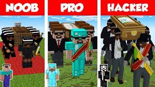 Minecraft NOOB vs PRO vs HACKER: COFFIN DANCE HOUSE BUILD CHALLENGE in Minecraft / Animation