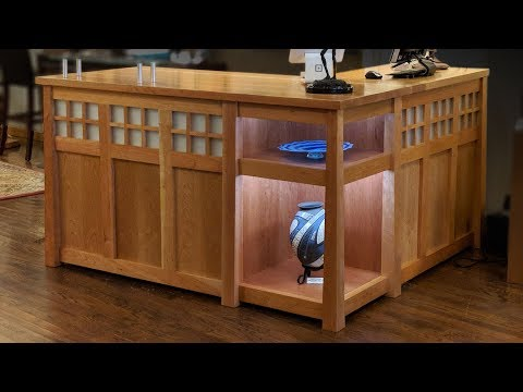 Building A Reception Desk For An Art Gallery - Woodworking