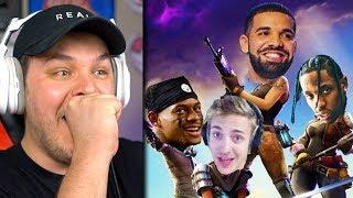 Drake Plays Fortnite With Ninja - Reaction