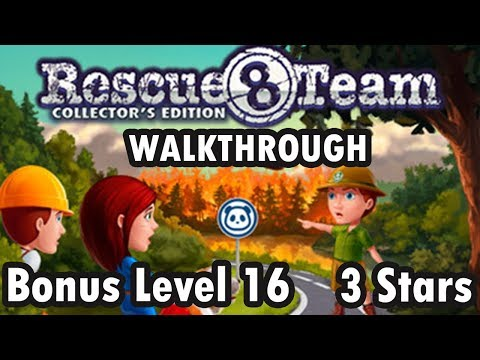 Rescue Team 8 - Collector's Edition - Bonus Level 16 - 3 Stars (Walkthrough) |
