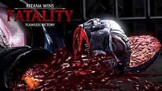 "MORTAL KOMBAT X · Kitana ""Splitting Hairs"" Fatality [HD] 60fps 