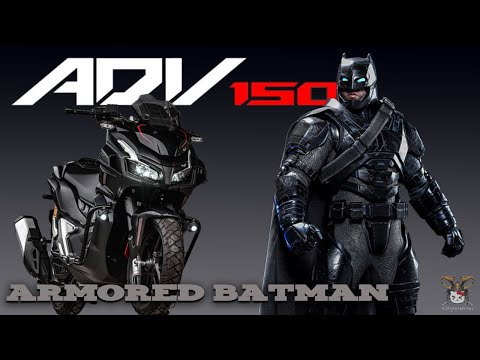 Honda ADV150 Modified Armored Batman | AsurA MotozAAA | Thailand