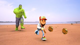 Hulk Vs Subway Surfers In Real Life