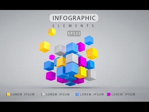 3D Graphic Design Infographic | Photoshop Cinema 4D C4D Tutorial 03