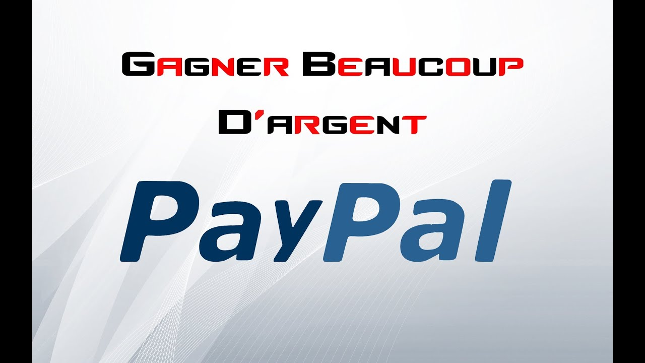 gagner de l 39 argent facilement en 2min avec paypal youtube. Black Bedroom Furniture Sets. Home Design Ideas
