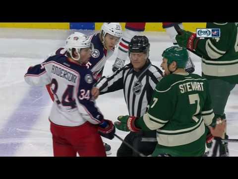 Gotta See It: Multiple fights break out between Blue Jackets & Wild