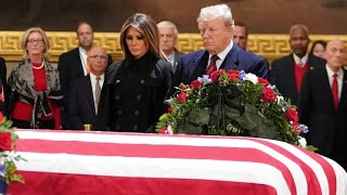 Trump attending George H.W. Bush funeral despite rocky relationship with family