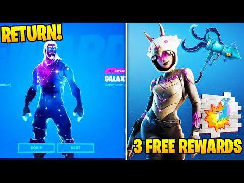 3 FREE SKIN REWARDS, Galaxy Skin RETURN, & Platform Specific Tournament (Fortnite Chapter 2 News)