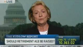 raising the retirement age for social security barbara kennelly on cnbc