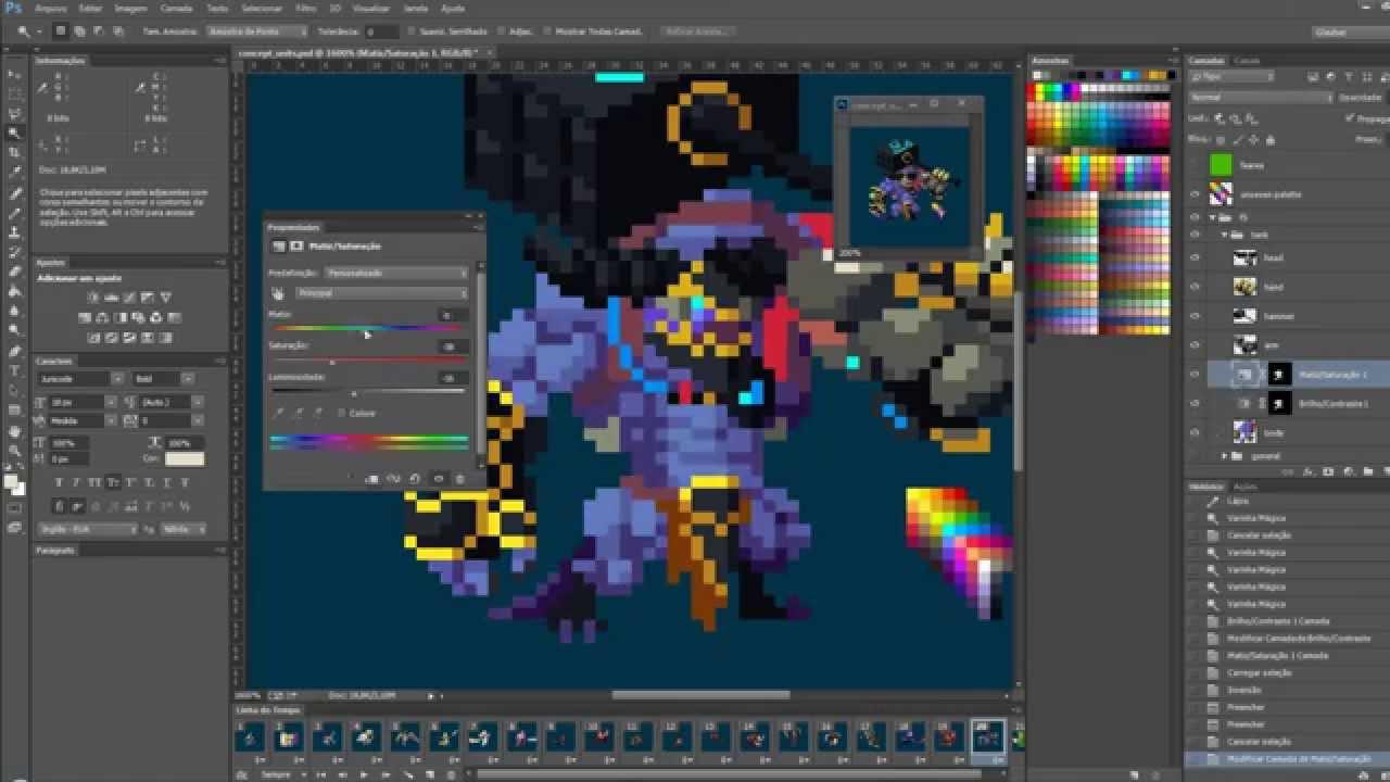 Duelyst - Concept art to Pixel art - YouTube