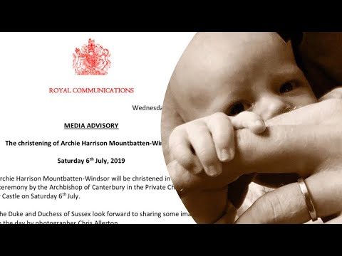 Harry & Meghan Reveal NEW Baby Archie GODPARENTS Christening Detail In  Statement