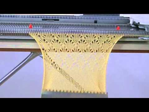 Testing The Lc 2 Lace Carriage With My Singer 740 Knitting Machine