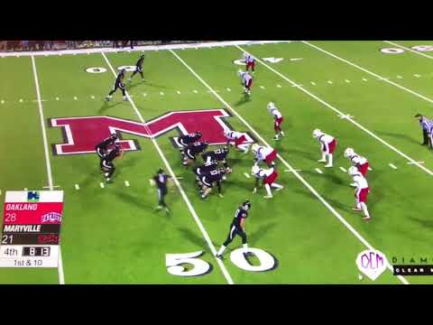 Maryville's Game-tying Trick Play Vs Oakland | Oakland Vs Maryville Football 2017