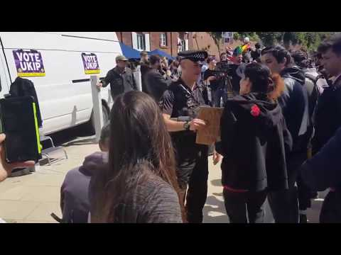 """Police Confiscate """"Allah Is Gay"""" Sign At #Exeter Event"""