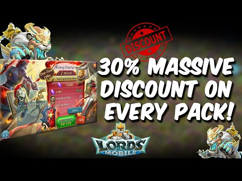 25% Massive Discount On Every Pack | Better Than Pack Loading - Lords Mobile