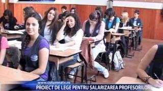 PROIECT DE LEGE PENTRU SALARIZAREA PROFESORILOR (Columna TV)