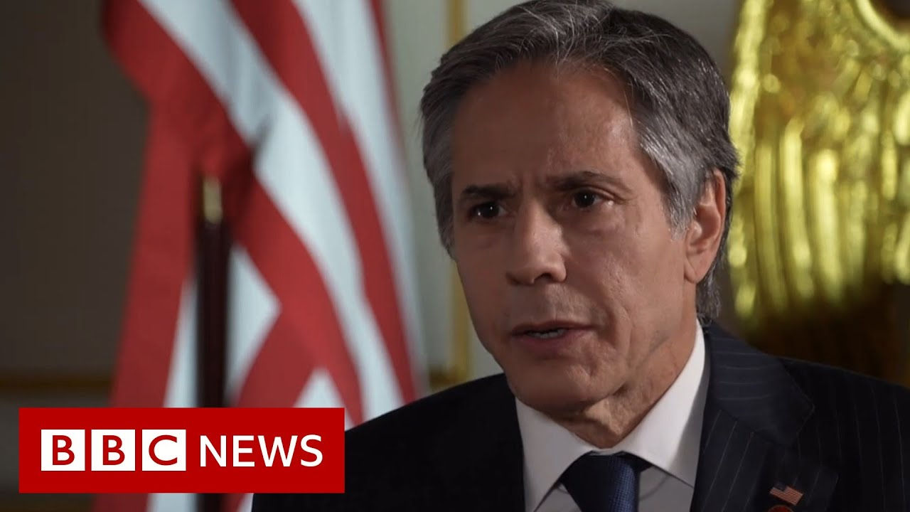 US secretary of state warns on Russia and China - BBC News