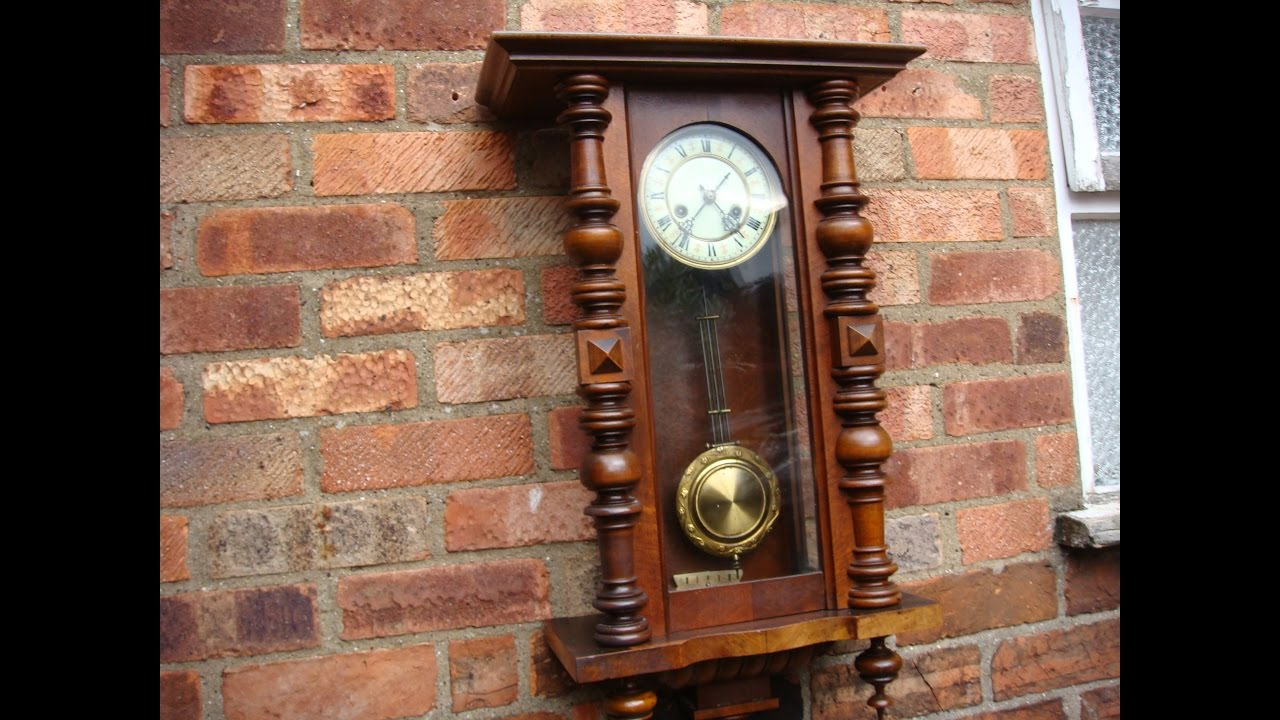 German vintage old antique h a c wall clock key pendulum see german vintage old antique h a c wall clock key pendulum see video amipublicfo Images