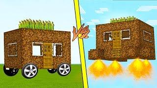 ДОМ НА КОЛЕСАХ против ЛЕТАЮЩИЙ ДОМ В Майнкрафте! Minecraft Мультики Майнкрафт троллинг Нуб и Про