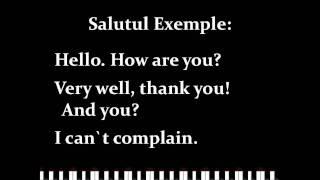 Lectie engleza usor si repejor - Conversatie 1
