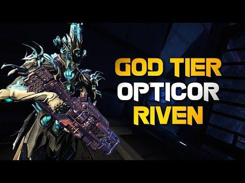 Warframe: HOW A GOD TIER OPTICOR RIVEN LOOKS LIKE