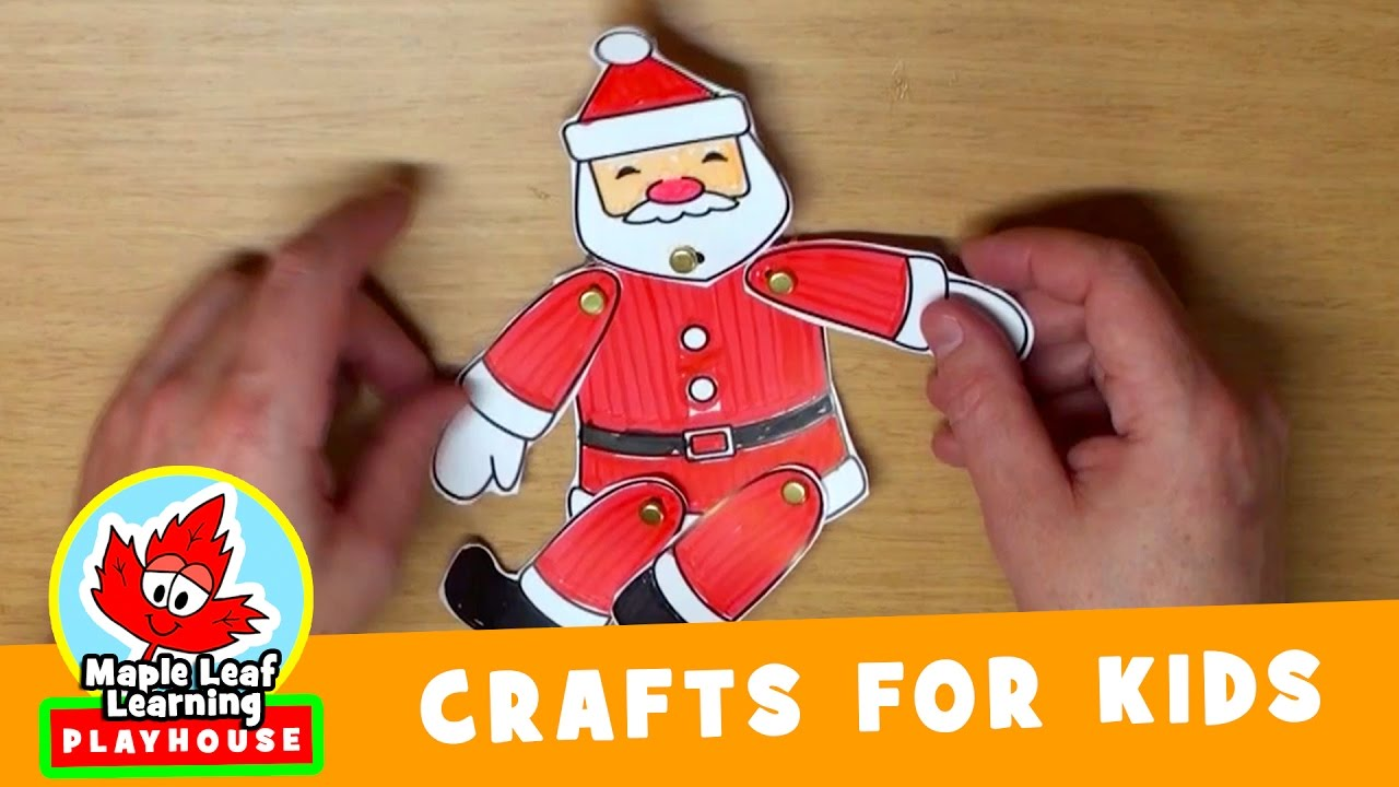 d07adf1f9 Dancing Santa Christmas Craft for Kids