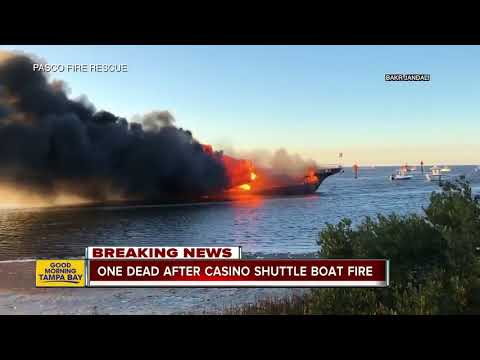 1 dead, 14 injured after casino shuttle boat carrying 50 catches fire in Port Richey
