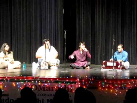 A classical singing performance by Mehfil group for Colorado Marathi Mandal