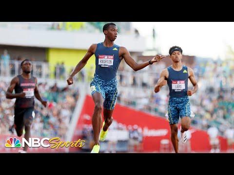 A Usain Bolt record falls as high schooler Knighton beats Noah Lyles AGAIN in 200m trials semi
