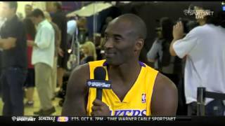 Kobe Bryant Interview - Media Day 2013