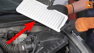 Bruksanvisning: Hvordan bytte Motorluftfilter på TOYOTA COROLLA E120