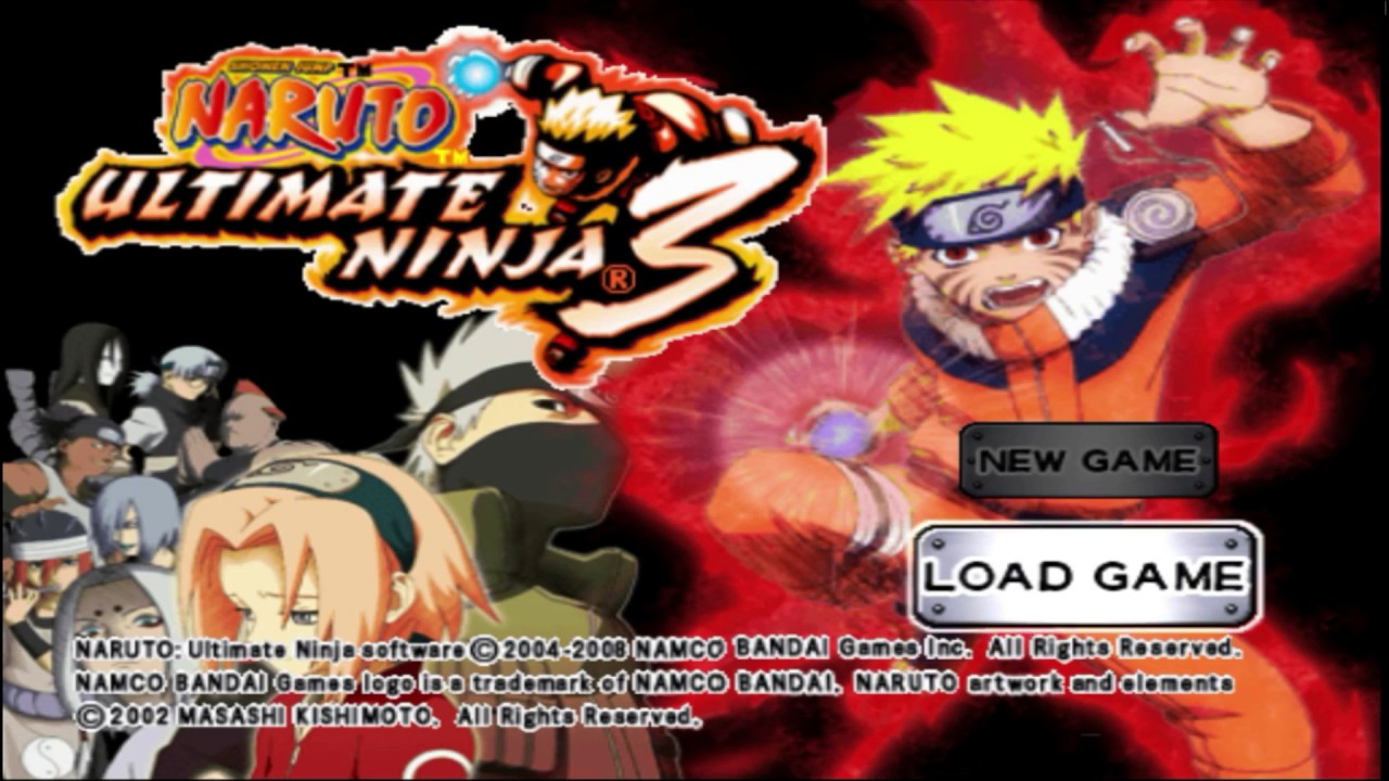 Image result for naruto ultimate ninja 3 ps2  logo