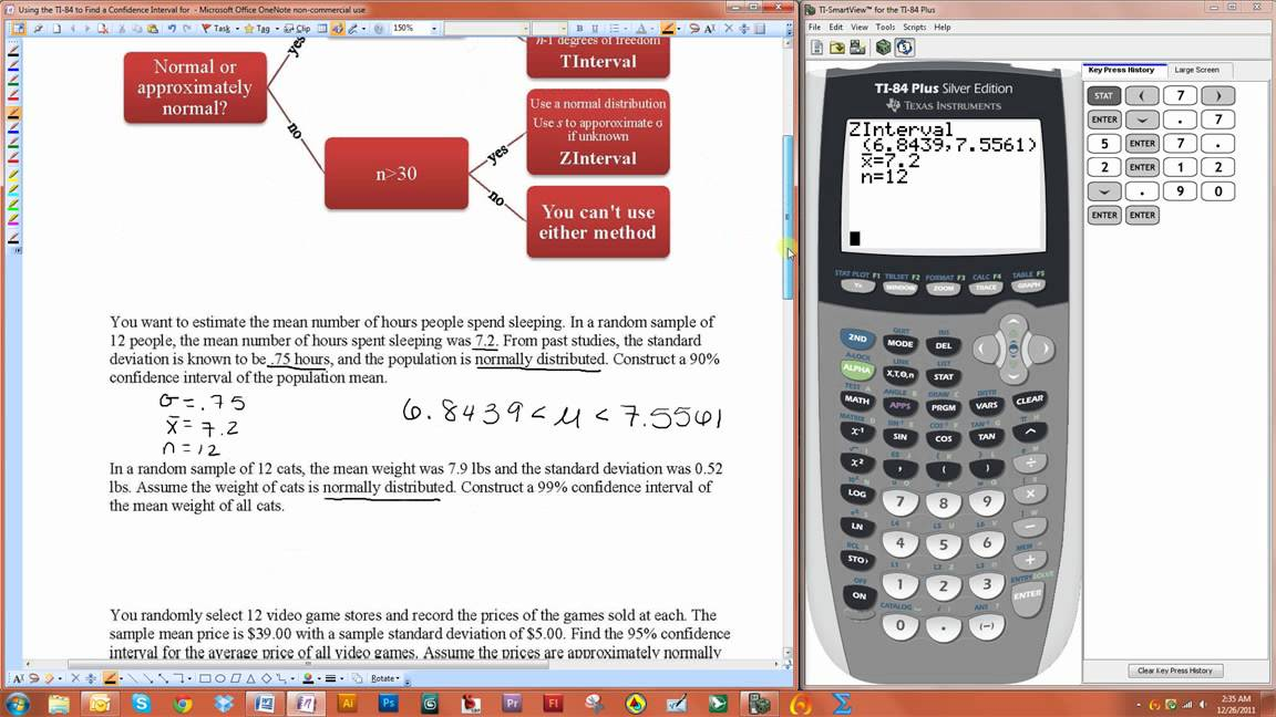 Using the TI-84 to Find a Confidence Interval for a Population ...