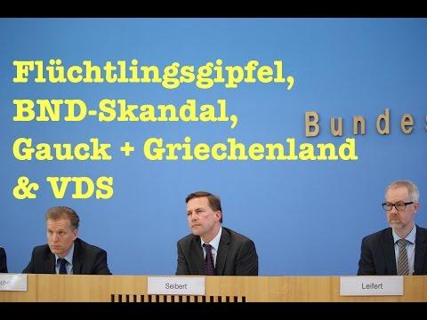 Naive Fragen zum Flüchtlingsgipfel, BND, Gauck & Griechenland