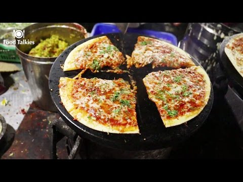 Indian Street Food - Street Food in Mumbai - Pizza Dosa