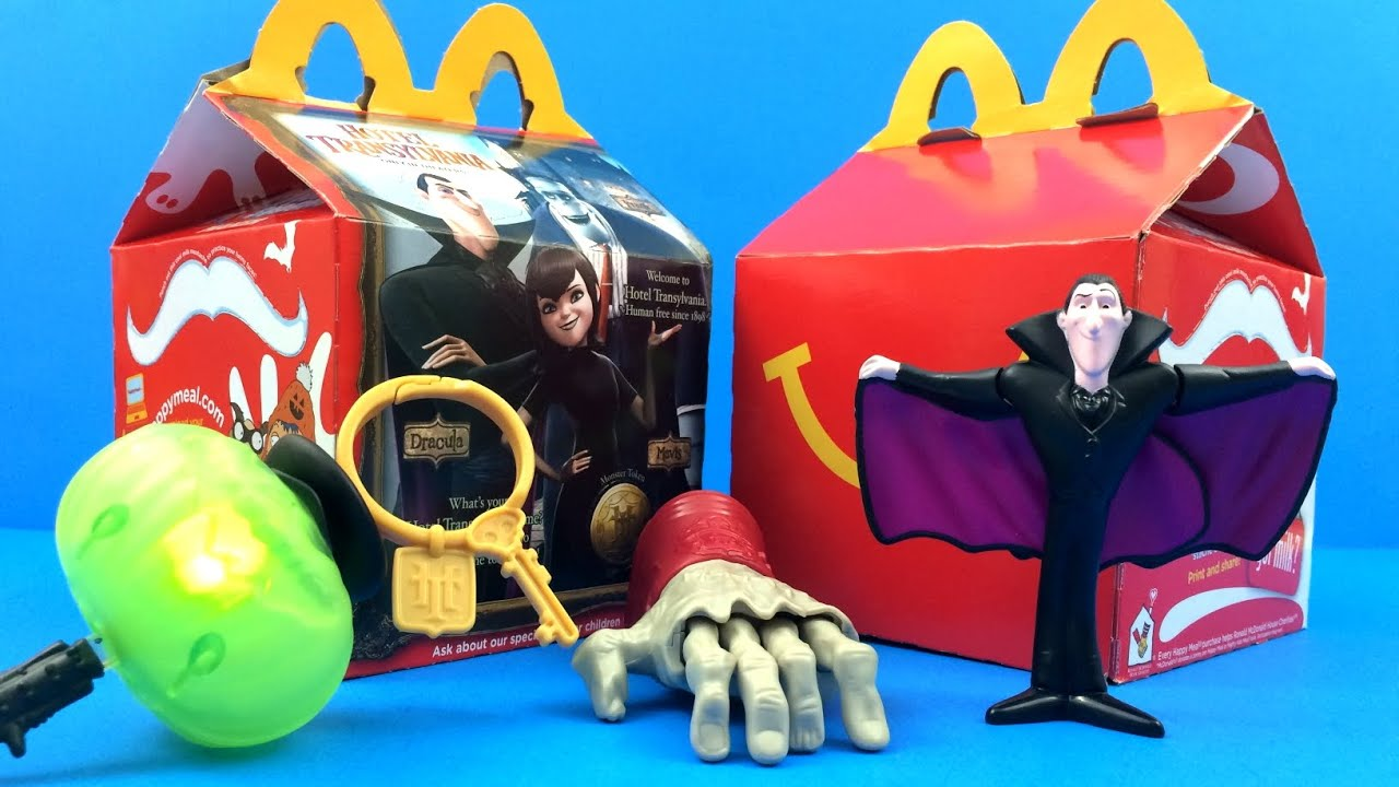 happy meal box mcdonalds hotel transylvania complete set 6 happy meal toys review 2012 2 2015 soon